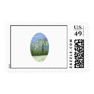 El Capitan Granite Monolith Oval WPA Stamp