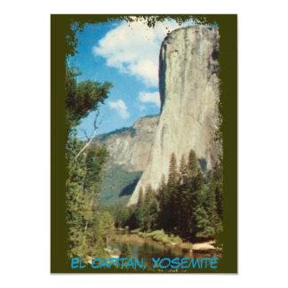 EL Capitan, invitación del vintage de Yosemite