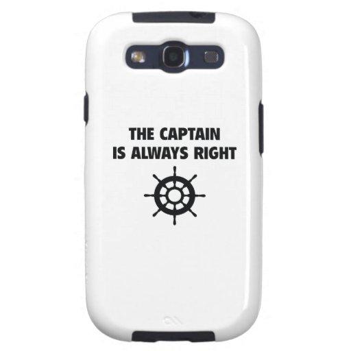 El capitán Is Always la Right Samsung Galaxy S3 Fundas