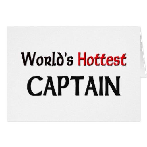 El capitán más caliente de los mundos tarjeta de felicitación