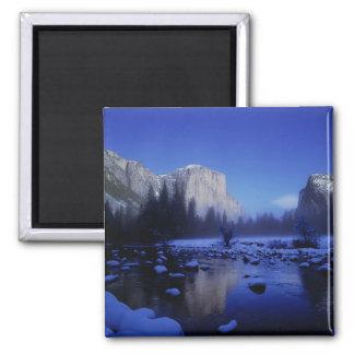 El Capitan Mountain, Yosemite National Park, 2 Inch Square Magnet