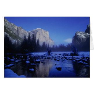 El Capitan Mountain, Yosemite National Park, Card