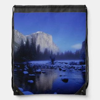 El Capitan Mountain, Yosemite National Park, Drawstring Bag