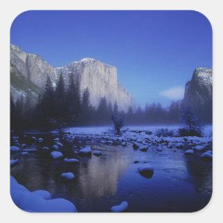 El Capitan Mountain, Yosemite National Park, Square Sticker
