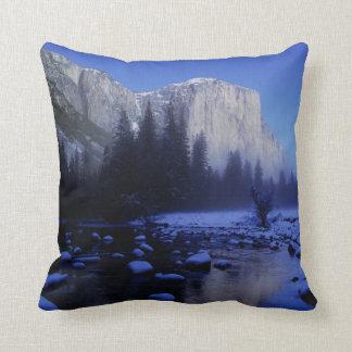 El Capitan Mountain, Yosemite National Park, Throw Pillow