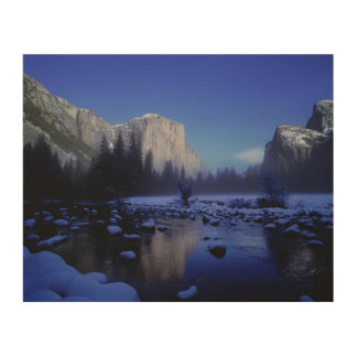 El Capitan Mountain, Yosemite National Park, Wood Wall Art