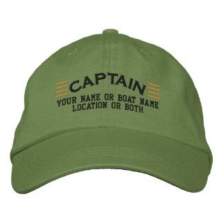 El CAPITÁN raya personalizable su Local conocido Gorras De Béisbol Bordadas