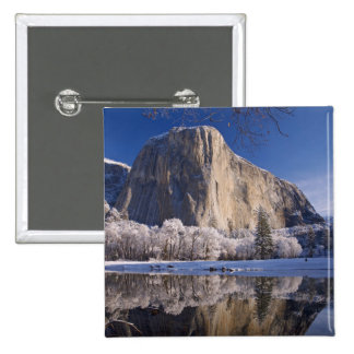 El Capitan reflects into the Merced River in 2 Button