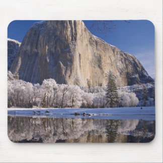 El Capitan reflects into the Merced River in 2 Mouse Pad