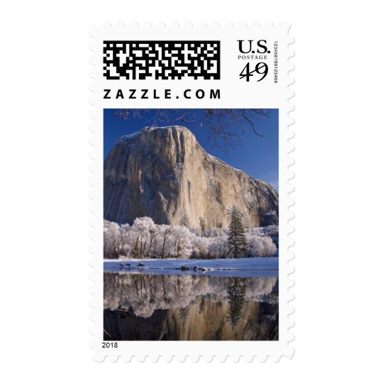 El Capitan reflects into the Merced River in 2 Postage