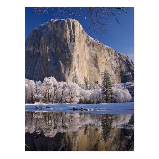 El Capitan reflects into the Merced River in 2 Postcards