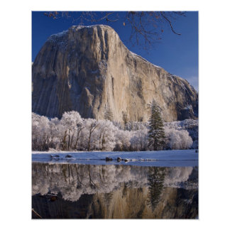 El Capitan reflects into the Merced River in 2 Poster