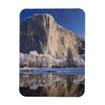 El Capitan reflects into the Merced River in 2 Rectangular Magnet