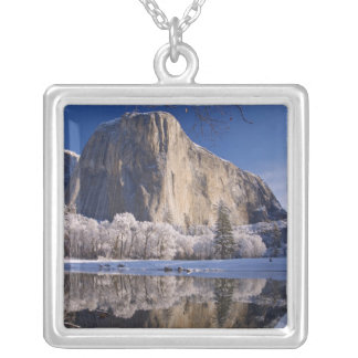 El Capitan reflects into the Merced River in 2 Silver Plated Necklace