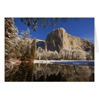 El Capitan reflects into the Merced River in Card
