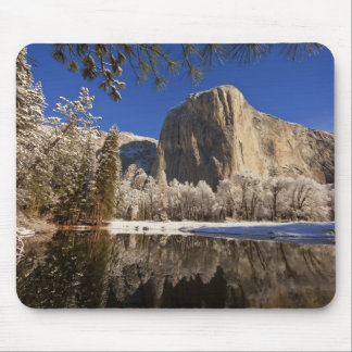 El Capitan reflects into the Merced River in Mouse Pad