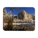 El Capitan reflects into the Merced River in Rectangular Magnets