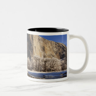 El Capitan reflects into the Merced River in Two-Tone Coffee Mug