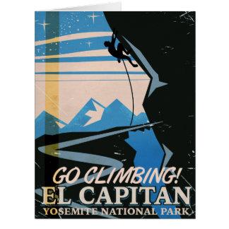 El Capitan vintage travel poster Card