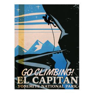 El Capitan vintage travel poster Postcard