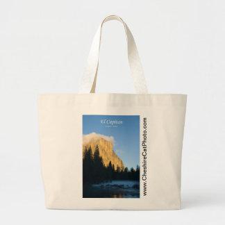 El Capitan (winter) Yosemite California Products Large Tote Bag
