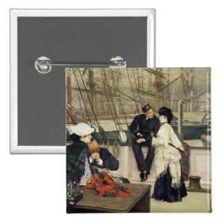 El capitán y el compañero, 1873 pin cuadrada 5 cm