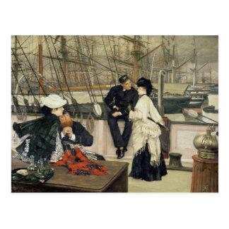 El capitán y el compañero, 1873 postal