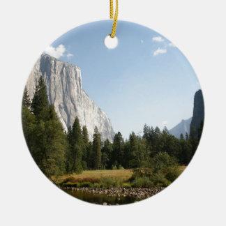 El Capitan, Yosemite National Park Double-Sided Ceramic Round Christmas Ornament