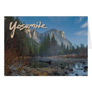 EL Capitan Yosemite Notecard Tarjeta Pequeña