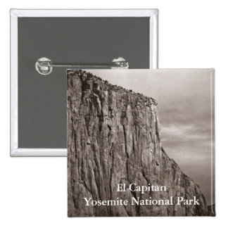 El Capitan Yosemite Sepia Pinback Button
