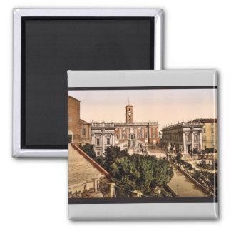 El Capitoline, vintage Photochrom de Roma, Italia Imán Cuadrado