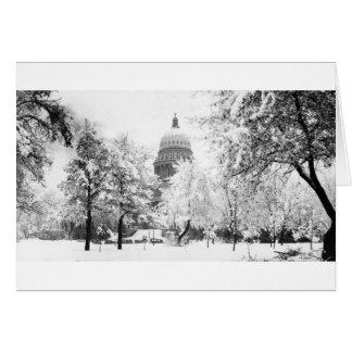 El capitolio de Idaho debajo de la nieve Tarjeta Pequeña
