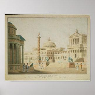 El capitolio, diseño determinado para 'Titus Poster