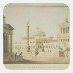 El capitolio, diseño determinado para 'Titus Pegatina Cuadrada