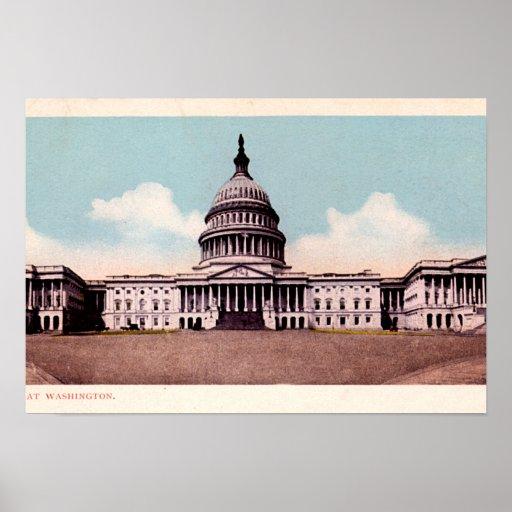 El capitolio, Washington, DC Posters