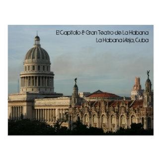 EL Capitolio y Gran Teatro, La Habana, Cuba Tarjeta Postal