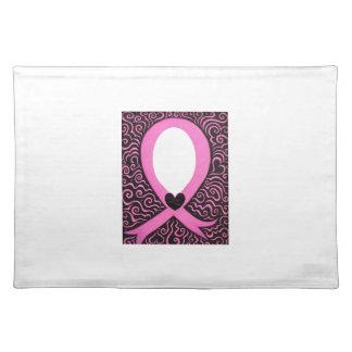 El capítulo de la cinta del rosa del cáncer de pec manteles individuales