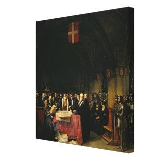 El capítulo de la orden de St. John de Jerusalén Lienzo Envuelto Para Galerías