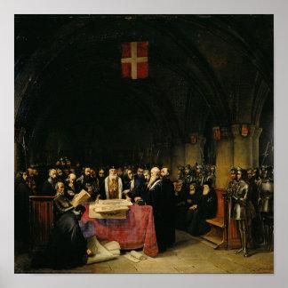 El capítulo de la orden de St. John de Jerusalén Póster