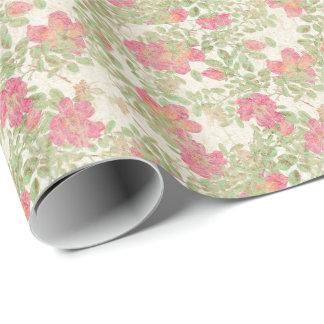 El capullo de rosa de los rosas del papel hecho a papel de regalo