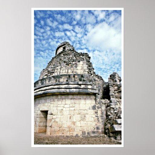 EL Caracol, el observatorio, Chichen Itza Posters