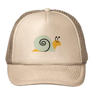 El caracol Slugs el animal lindo del dibujo animad Gorros Bordados