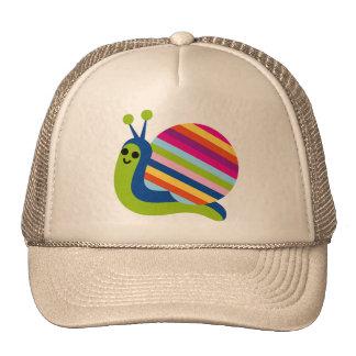 El caracol Slugs el animal lindo del dibujo animad Gorro