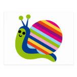 El caracol Slugs el animal lindo del dibujo animad Tarjetas Postales