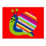 El caracol Slugs el animal lindo del dibujo animad Postales