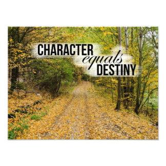El carácter iguala la impresión inspirada de la fotografias