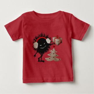 El carácter malvado da a regalo de Navidad el bebé T Shirt