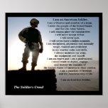 El carácter militar del guerrero del credo de los póster