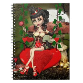 El caramelo Apple ama el cuaderno gótico del arte