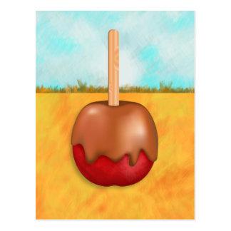 El caramelo Apple delicioso ajardina la postal